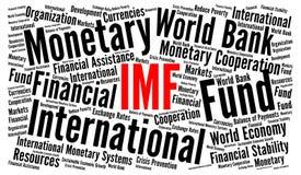 Het IMF-het concept van de woordwolk vector illustratie