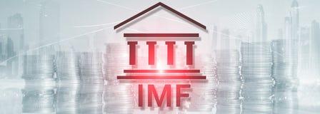Het IMF Internationaal Monetair Fonds Financiën en bankwezenconcept royalty-vrije illustratie