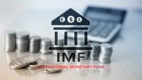 Het IMF Internationaal Monetair Fonds Financi?n en bankwezenconcept stock illustratie