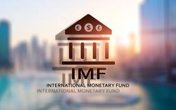 Het IMF Internationaal Monetair Fonds Financi?n en bankwezenconcept royalty-vrije illustratie