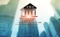 Het IMF Internationaal Monetair Fonds Financi?n en bankwezenconcept vector illustratie