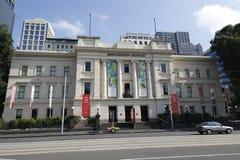 Het Immigratiemuseum op Flinders-Straat in Melbourne, Victoria, op de Oude Douanealgemene vergadering die wordt gevestigd Stock Foto's