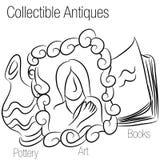 Het inbare Trekken van Antiquiteiten vector illustratie