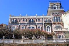 Het inbouwen van Alfama, Portugal stock fotografie
