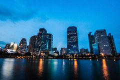 Het inbouwen van centrum van Bangkok Stock Afbeeldingen