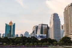 Het inbouwen van centrum van Bangkok Stock Fotografie