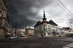 Het inbouwen van Cluj Napoca Stock Foto's