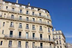 Het inbouwen van de haven van Marseille, Frankrijk royalty-vrije stock foto's