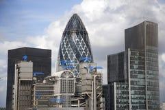 Het inbouwen van de Stad van Londen Stock Afbeeldingen