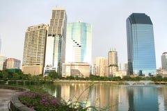 Het inbouwen van het gebied van de binnenstad van Bangkok Royalty-vrije Stock Fotografie