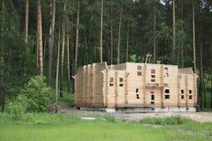 Het inbouwen van hout. Royalty-vrije Stock Afbeeldingen