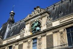 Het inbouwen van Parijs, Frankrijk Stock Foto