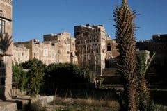 Het inbouwen van Sanaa, Yemen Stock Fotografie