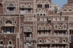 Het inbouwen van Sanaa, Yemen Stock Foto's