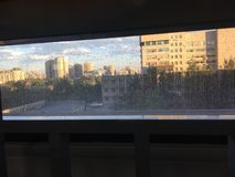 Het inbouwen van het venster royalty-vrije stock foto
