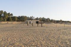Het inbouwen van woestijn royalty-vrije stock foto