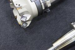 Het index-able hulpmiddel voor CNC malenmachine Stock Afbeelding