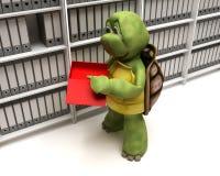Het indienen van de schildpad documenten Stock Fotografie