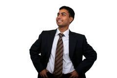 Het Indische bedrijfsmens glimlachen. royalty-vrije stock foto's