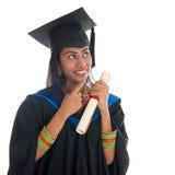 Het Indische gediplomeerde universitaire student denken Royalty-vrije Stock Afbeeldingen