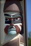 Het Indische gezicht van de Totempaal stock foto
