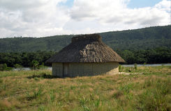 Het Indische huis van Pemon, Canaima N.P., Venezuela Stock Foto's