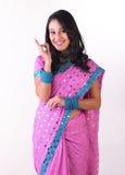 Het Indische jonge zeggen uitstekend met haar hand Royalty-vrije Stock Foto's
