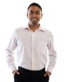 Het Indische mens glimlachen. Royalty-vrije Stock Fotografie