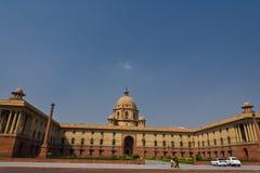Het Indische Parlement in New Delhi Stock Afbeeldingen