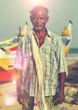 Het Indische Rustige Concept van Visserskerela india solitude stock fotografie