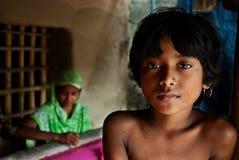 Het Indische Vrouw weven Royalty-vrije Stock Afbeelding