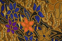 Het Indonesische Patroon van de Batik Royalty-vrije Stock Fotografie