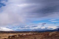 Het indrukwekkende landschap van de vulkaanberg in IJsland Stock Afbeeldingen
