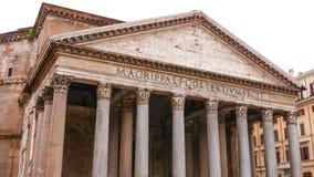 Het indrukwekkende Pantheongebouw in het historische stadscentrum van Rome stock afbeelding