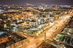Het industriële district van dnepropetrovsk Stock Fotografie