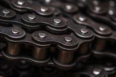 Het industriële drijfclose-up van de rolketting royalty-vrije stock afbeeldingen