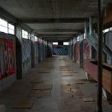Het Industriële erfgoed van Leiden Meelfabriek Stock Foto