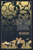 Het industriële ontwerp van het brochuremalplaatje Royalty-vrije Stock Afbeelding