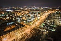 Het industriële district van dnepropetrovsk Stock Afbeelding