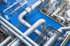 Het industriële gebied van het fabrieksproces Royalty-vrije Stock Afbeeldingen
