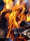 Het ineenstrengelen van vlammen Stock Afbeelding