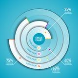 Het infographic malplaatje van de cirkelgrafiek Royalty-vrije Stock Foto's