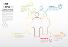Het infographic malplaatje van het Thinlineteam Stock Afbeeldingen