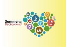 Het inforgraphic ontwerp van het de zomeridee Stock Foto's