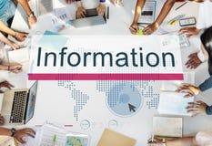Het informatiegegevensbestand van middelen voorziet Resultatenconcept stock foto's