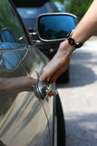 Het ingaan van auto royalty-vrije stock foto's