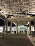 Het ingaan van Charleston International Airport Terminal royalty-vrije stock foto