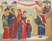 Het ingaan van tempel van de Vergine Santa Stock Afbeelding