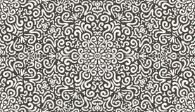 Het ingewikkelde naadloze patroon van het fantasiecontrast Stock Afbeeldingen