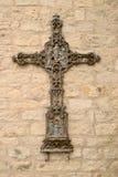 Het ingewikkelde Roestige Kruis van het Ijzer Royalty-vrije Stock Foto's
